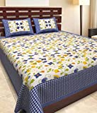 bed sheet for double bed cotton 100 % cotton Double Bedsheets with 2 Pillow cover best price on Amazon @ Rs. 598