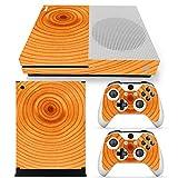 Xbox ONE S Designfolie für Konsole + 2 Controller + Kamera Sticker Skin Set – Holz 2