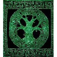 Handicrunch Celtico Tree Of Life Arazzo -Unique Home Decor - Emerald