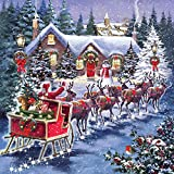 Otter House Santa´s Sleigh - Weihnachtspuzzle - 1000 Teile