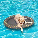 Ginkago Galleggiante gonfiabile della piscina per i cani ed i cuccioli, grande giro blu moderno del gabinetto del nuoto del cane da compagnia (Grey)