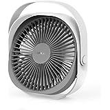 LaHuko [2020 Superkraft] Mini Ventilator, Größer Mini Fan,Leise Ventilator,3 Geschwindigkeiten,Mini Luftkühler,Einfach zu Tragen,ideal für Büro, Zuhause,und im Freien,USB Wiederaufladbar (M2)