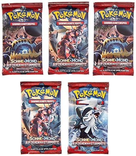Sonne und Mond Serie 4 - Aufziehen der Sturmröte - Booster, Display - Deutsch (5 Booster) - 5 Karten-packs Pokemon