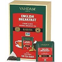 VAHDAM, Biologico Tè English Breakfast (100 Bustine) | ENERGIA E CAFFEINA - Sana Alternativa al Caffè | Tè Nero Forte…
