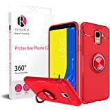 Samsung Galaxy J6 2018 Ring Series Shock Absorption Soft TPU Back Case Cover - Red