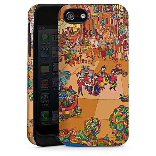 Apple iPhone 5s Housse Étui Protection Coque Paris France Tour Eiffel Cas Tough terne