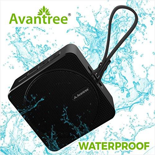Avantree Tragbarer Mini Bluetooth Lautsprecher Wasserdicht für die Dusche, 10 Stunden Musikzeit, IPX6 Klein Wireless Wasserfeste Lautsprecher mit SD Karte Slot für Outdoor und Strand - SP950