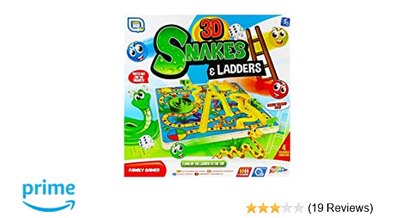 3D Snakes And Ladders Kids Childrens Board Game Traditional