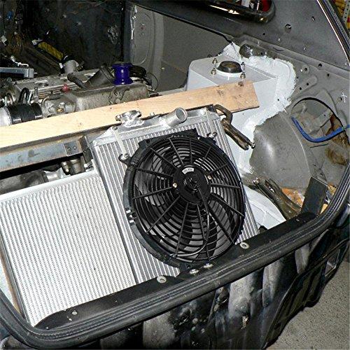 Kühlerlüfter Futurepast DC12V Universal Motor-Kühler Lüfter 14 Zoll Elektro Kühlgebläse Kühler Motorkühlung Kühlerlüfter Auto Ventilator (Swcharz) (Elektro-luft-kühler Lüfter)