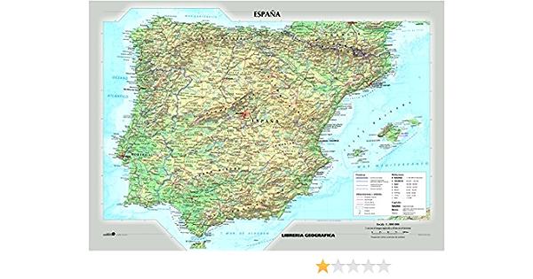 Cartina Geografica Della Spagna Politica.Amazon It Spagna Fisica E Politica Carta Murale Libri