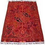 Lorenzo Cana High End Luxus Wolldecke aufwändig Jacquard gewebtes Paisley Muster flauschig weich Decke 100% Wolle Wohndecke Sofadecke Wohndecke 9612088