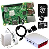 Raspberry Pi 3 Model B+ Bundle mit 16 GB SD-Karte (weiß)