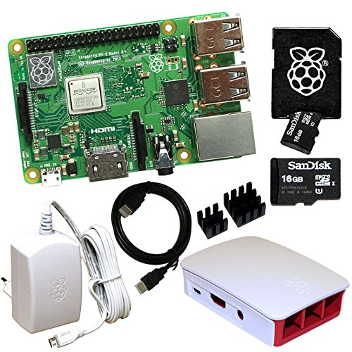 Raspberry Pi 3 Model B+ Bundle mit 16 GB SD-Karte (weiß) (Raspberry Model Pi B Bundle)