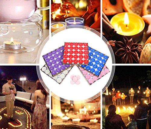 Vela De Tealight, Funpa Vela de Fiesta Sin Humo de 100 Piezas de Velas de té Para Fiesta de San Valentín