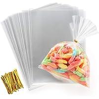 ilauke Sac Plastique Transparent 200pcs Sac OPP 15x20cmSachet Bonbon en Cellophane Sachet Transparent Cadeau avec Liens…