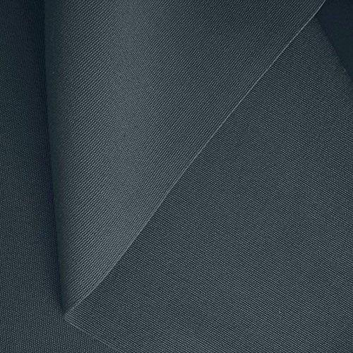 TOLKO 50cm klassischer Zelt-Stoff/Segeltuchstoff Meterware WASSERDICHT - Breite: 205cm aus 100% Baumwolle (Dunkel-Grau)