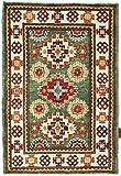 Nain Trading Kazak 91x64 Orientteppich Teppich Dunkelbraun/Orange Handgeknüpft Afghanistan