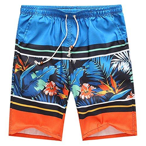 HITOP Herren Schnelles Trocknen Elastisch mehrfarbig Badeshorts Badehose Bermudashort Freizeit Strand Shorts 1