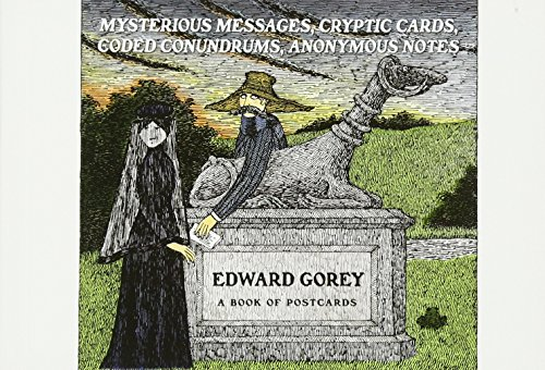 Edward Gorey Mysterious Messages Cryptic Cards Coded Conundrums Anonymous Notes Book of Postcards Aa649