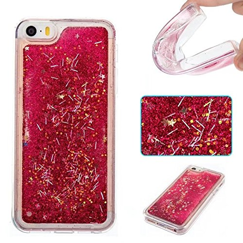 Coque iPhone 4, Coque iPhone 4S, Flowing Liquide Floating Luxe Bling Glitter Sparkle Case Cover pour iPhone 4 / 4S 8# 5G