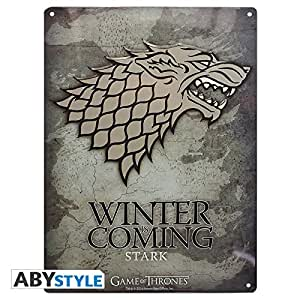 ABYstyle - ABYPLA006 - Plaque métal - Game Of Thrones - Stark