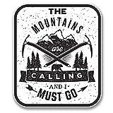 2x 10cm Les montagnes sont en vinyle Motif Calling Ski/Snowboard escalade # 6398 - 8.5cm Wide x 10cm Tall