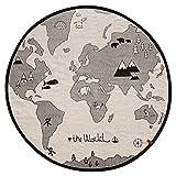 OYOY - Spielteppich, Kinderteppich - The World - Baumwolle - Ø135 cm