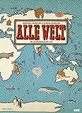 Alle Welt 2018 - Landkarten-Kalender von DUMONT- Kinder-Kalender - Poster-Format 49,5 x 68,5 cm -