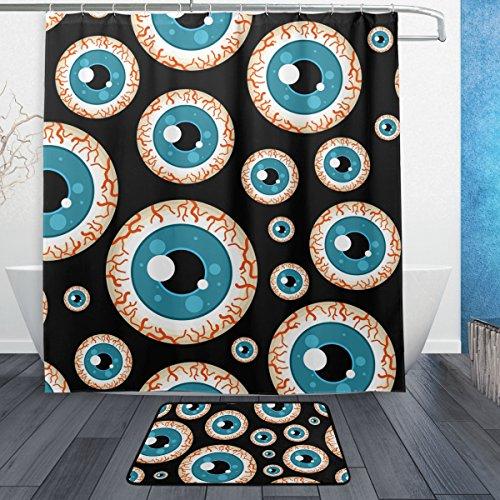 on Cut Duschvorhang 167,6x 182,9cm mit Badteppich Teppich & Haken, schimmelresistent & Wasserdicht Polyester Dekoration Badezimmer Vorhang Set ()