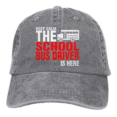 24733f15d96 ewtretr School Bus Driver is Here Denim Hat Women Washed Baseball Hats  Adjustable Unisex Suitable for