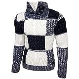 Rusty Neal Herren Grobstrick Strickpullover Pullover Sweatshirt Jacke RN-13284, Farbe:Blau;Größe:M