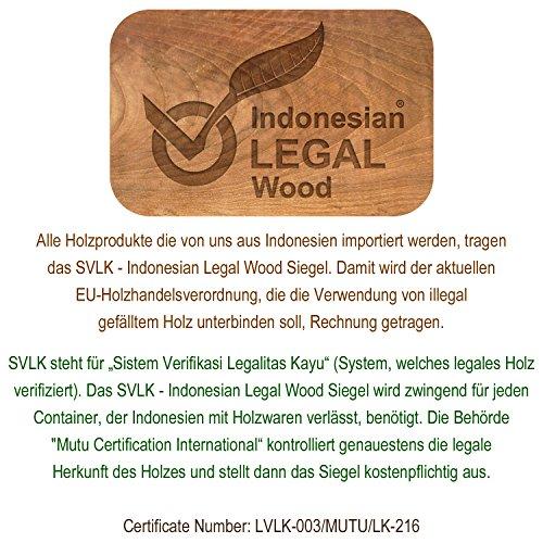 DIVERO 2er-Set Klappstuhl Teakstuhl Gartenstuhl Teak Holz Stuhl für Terrasse Balkon Wintergarten witterungsbeständig behandelt massiv klappbar natur - 7