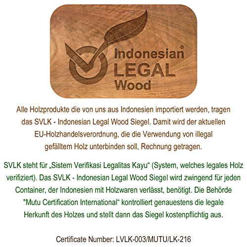 Divero 2-Sitzer Bank Holzbank