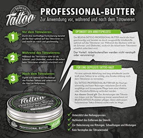Believa Tattoo Professional Butter - Vegane Tattoopflege Creme 35ml