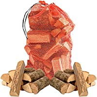 THE LOG HUT® 10kg of Quality Hardwood Kiln Dried ASH Wooden Logs - Coal Alternative Fuel for Hotter Burning Fires. Moisture Reduced to Only 20% - Comes with THE LOG HUT® Woven Sack.