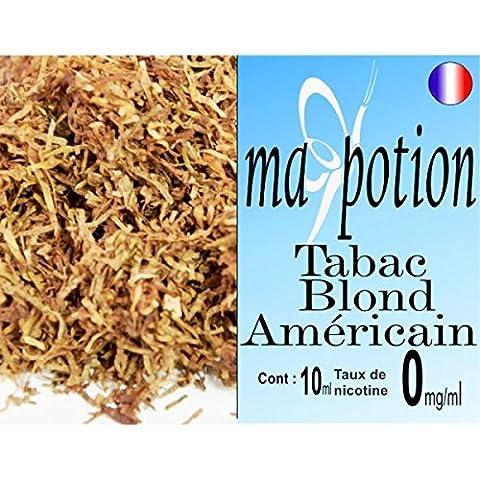 Sans Nicotine - MA POTION - E-Liquide TABAC Blond Américain,