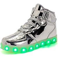 Ansel-UK LED Scarpe Sportive per Bambini Ragazze e Ragazzi 7 Colori USB Carica Lampeggiante Luminosi Running Sneakers…