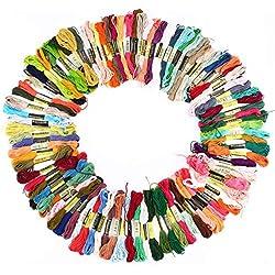 100 piezas de hilo mercerizado de colores para Macramé