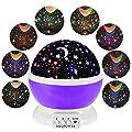 MKQPOWER neue Erzeugung, die Mond-Stern-Projektions-LED-Nachtlichter-Spielwaren-Tabellen-Lampen