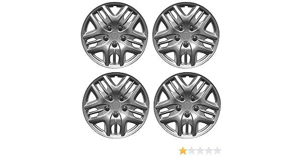 Wing Mirrors World KIA PICANTO Car Wheel Trims Hub Caps Plastic Covers Phantom 15 Silver