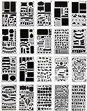 Schablone DIY Vorlage Multifunktional Zeichnung Malschablone Set für Tagebuch Journal Scrapbooking Karten Handwerk (20pcs)