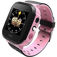 Teabelle Smartphone per Bambini, Tracker GPS con Fotocamera SIM Chiamate Anti-smarrimento SOS Smartwatch Bracciale per…