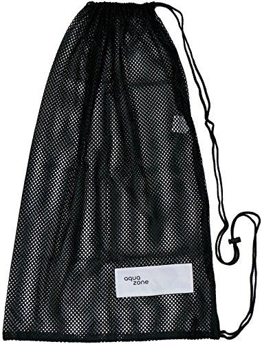 Sacca di attrezzatura sportiva in rete, per nuoto spiaggia immersioni viaggi palestra, Nero