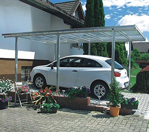 Preisvergleich Produktbild Beckmann Aluminium Carport 311 x 496 x 218 cm Aluminium natur