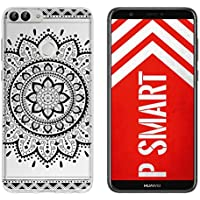 yayago Hülle für Huawei P Smart Silikon Schutzhülle Hülle Case Backcover Tattoo Ornament Tribal Design transparent Tasche