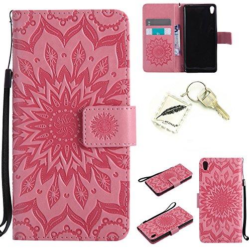 Preisvergleich Produktbild Silikonsoftshell PU Hülle für SONY Xperia E5 Tasche Schutz Hülle Case Cover Etui Strass Schutz schutzhülle Bumper Schale Silicone case+Exquisite key chain X1#KD (4)