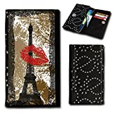 Rhinestone Book-Style Flip Case Photo Skin Case Cover For
