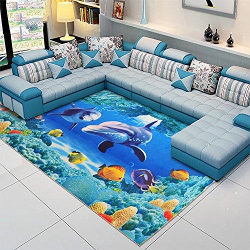 KELE 3D Teppich Schlafzimmer,Kompletter Shop,Crawlen,Pad Tropfen, Maschine Waschbar,Teppich am Bett-B 120x170cm(47x67inch) (Teppich Reinigung-maschinen Dampf)