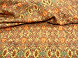 Viskosestoff, Wolle, Blumenmuster, grafisches Muster,