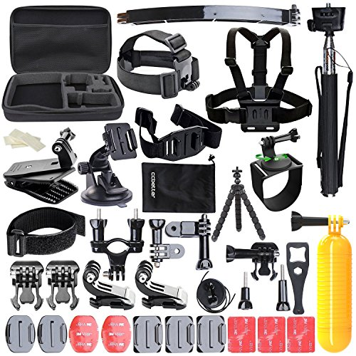 New Version Accessories for Gopro, CCbetter Action camera mounts Hero 4 Hero 5 Session Hero 1 2 3 3+ SJ4000 5000 DBPOWER VicTsing APEMAN WiMiUS Rollei QUMOX (Black) Test